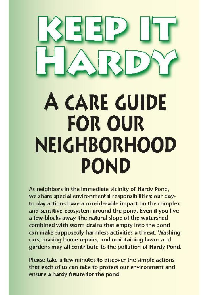 Keep It Hardy Pond Care Guide 2020