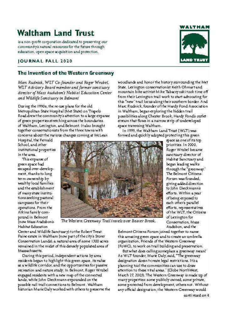 WLT Fall 2020 Newsletter