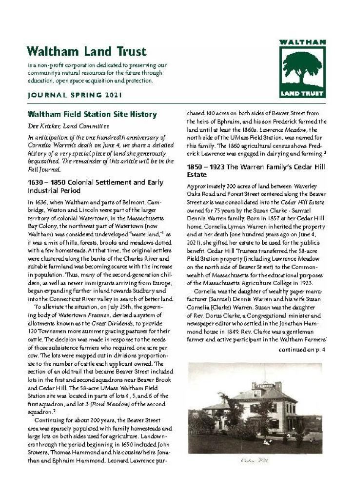 WLT Spring 2021 Newsletter