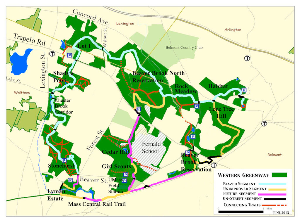 Western Greenway Map