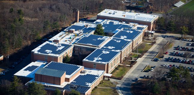 Waltham High School Aerial View