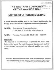 2018-02-13 Wayside Rail Trail Public Meeting