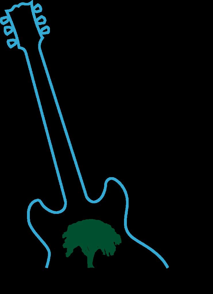GSBJ Poster art colored Just Guitar 6 pt Clean Cut