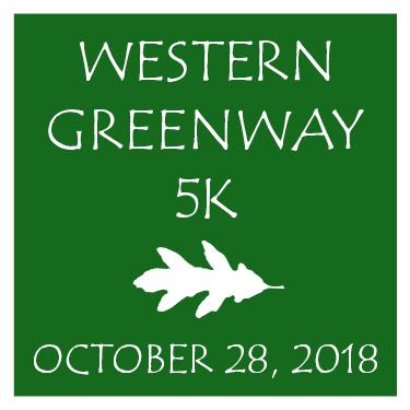 Western Greenway 5K Sunday October 28th