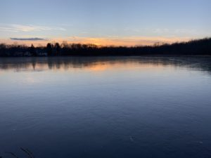 Hardy Pond at sunset