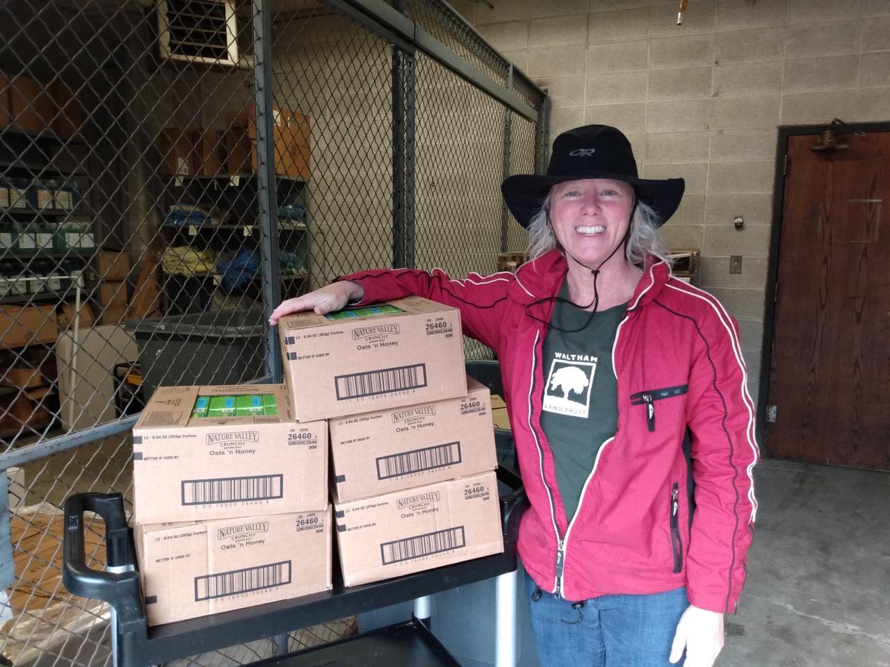 Sonja Brings Cases to H.S. Loading Dock (1)