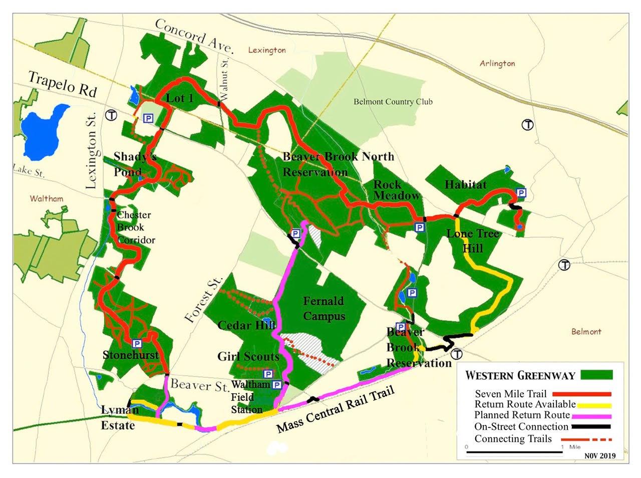 Western Greenway Map
