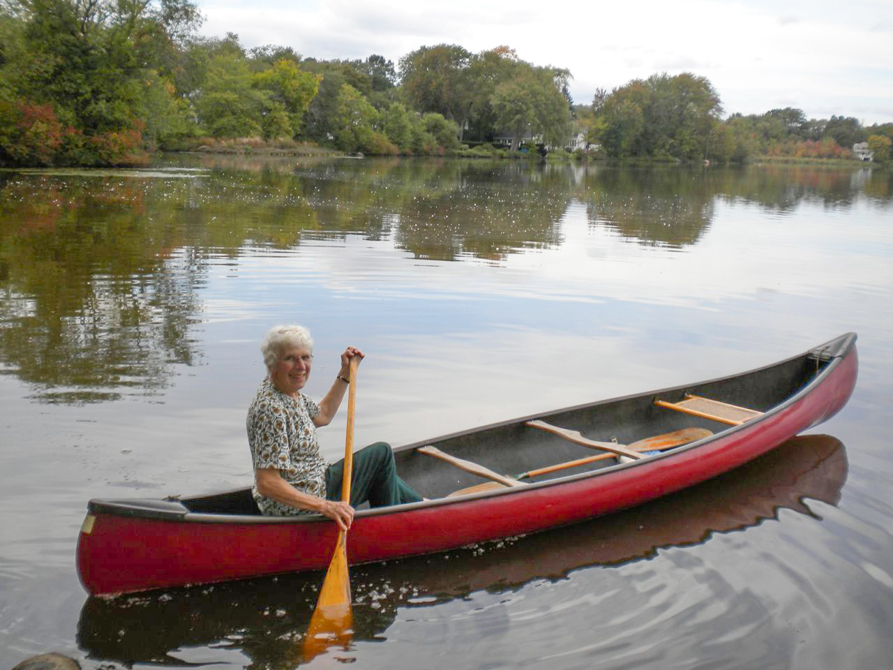Inge Uhlir in her canoe